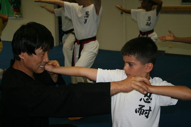 Preschool-Karate-lesson