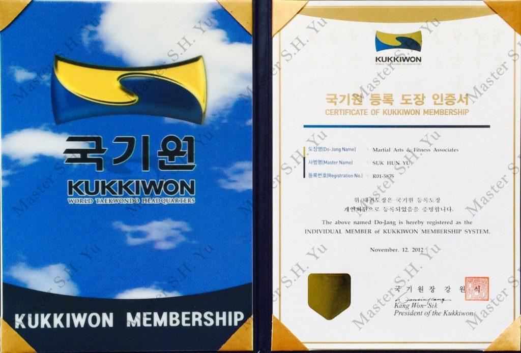TaeKwonDo - 1. Kukkiwon World Tae Kwon Do Federation Organization Membership