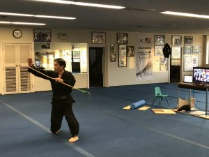 Senior GrandMaster S.H. Yu Doing Virtual Martial Arts