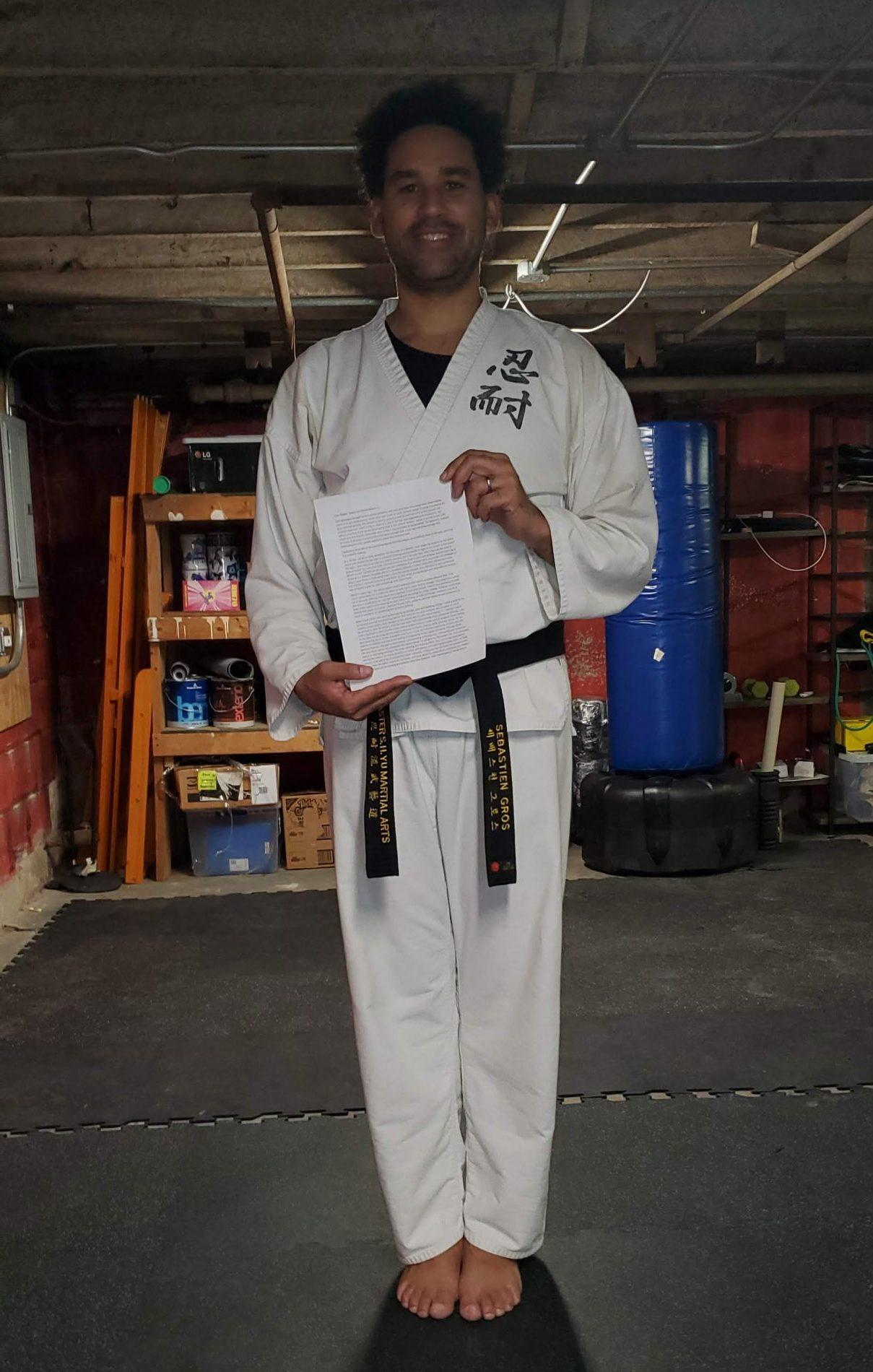 Dr. Sebastien Gros, PhD - Martial Artist